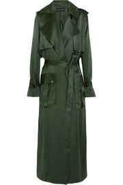 Silk-satin trench coat
