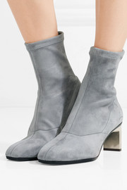 3.1 Phillip Lim Blade stretch-suede sock boots