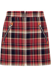 Leah tartan cotton mini skirt