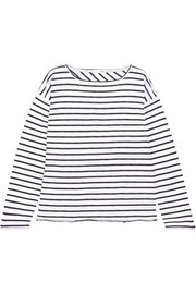 Dakota oversized striped cotton-blend top