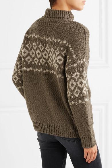 Vince | Fair Isle wool-blend turtleneck sweater | NET-A-PORTER.COM