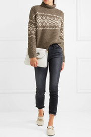 Fair Isle wool-blend turtleneck sweater