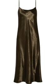 Hammered-satin midi dress