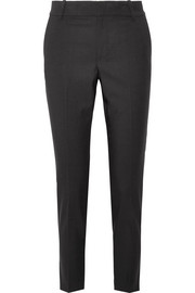 Cropped wool-blend tapered pants