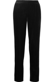 Velvet tapered pants