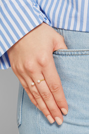 9-karat gold pearl ring