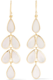 Ippolita Rock Candy Teardrop 18-karat gold mother-of-pearl earrings