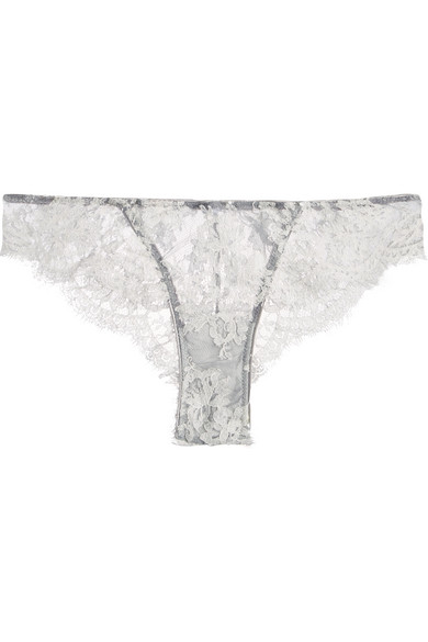 FANTASIA CORDED LACE AND TULLE BRIEFS