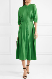 Moya twill midi dress