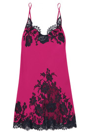 Nights in Venice lace-trimmed silk-blend chemise