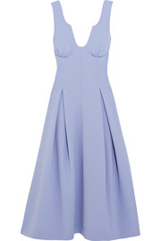 Astra wool-crepe midi dress