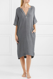Darby crinkled-cotton gauze nightdress