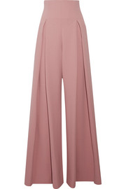Linette pleated wool-crepe wide-leg pants