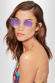Eventually cat-eye gold-tone sunglasses