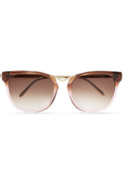 Thierry Lasry Gummy cat-eye acetate and gold-plated sunglasses