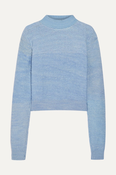 The Elder Statesman Kaschmirpullover in Distressed-Optik