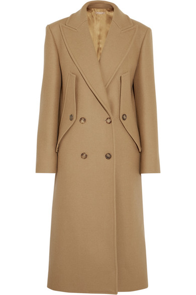 Michael Kors Collection - Double-breasted Wool Coat - Camel