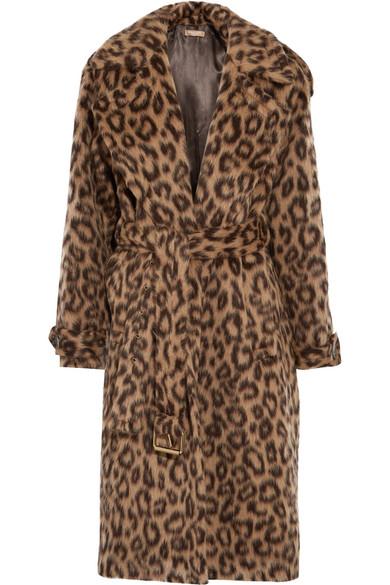 Michael Kors Collection - Leopard-print Llama And Wool-blend Coat - Leopard print