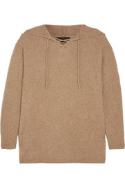 The Elder Statesman Heavy Hockey lace-up hooded cashmere sweater