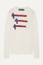 Flying Crosses intarsia cashmere sweater