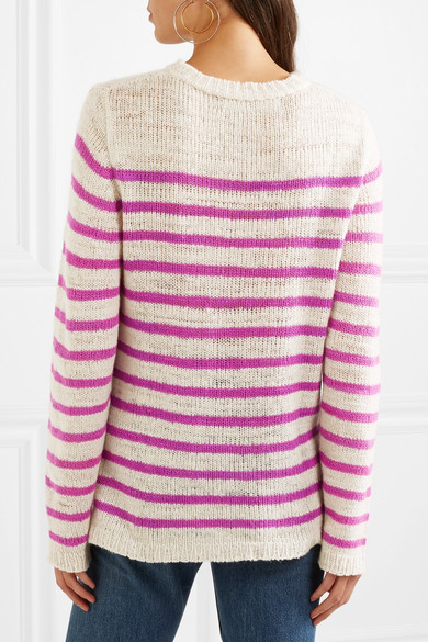 The Elder Statesman Picasso Striped Cashmere Knitwear