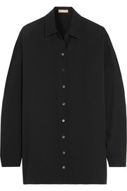 Oversized silk-georgette shirt