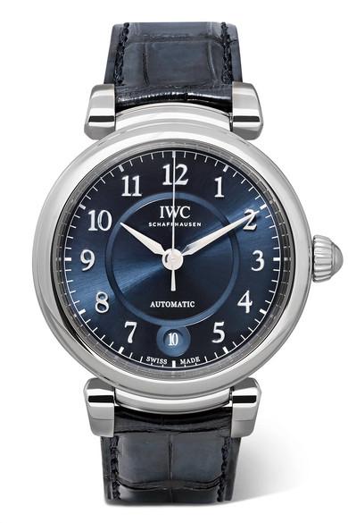 IWC SCHAFFHAUSEN - Da Vinci Automatic 36 Alligator And Stainless Steel Watch - Silver