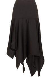 Marion asymmetric satin midi skirt