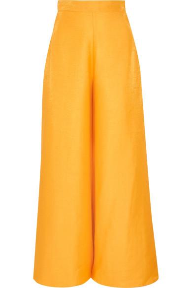 Paper London - Lear Woven Wide-leg Pants - Marigold