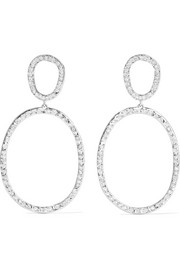 Ileana Makri Again Single 18-karat white gold diamond earrings