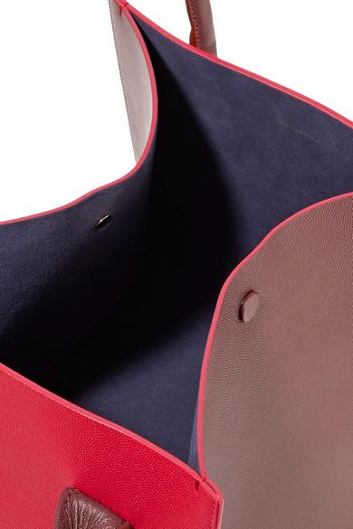 Roksanda Weekend mini Tote aus zweifarbigem strukturiertem Leder