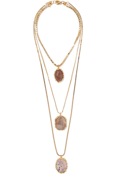 Rosantica - Gold-tone Agate Necklace