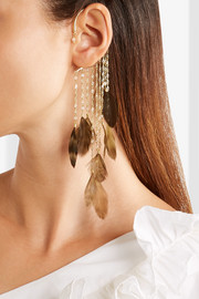 Rosantica Selva gold-tone feather and bead ear cuff