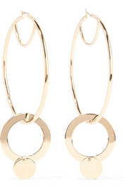 Eddie Borgo Nubia gold-plated cubic zirconia hoop earrings