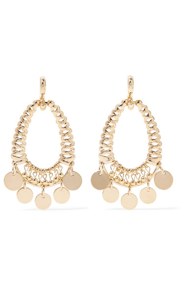 Eddie Borgo - Batik Gold-plated Cubic Zirconia Earrings
