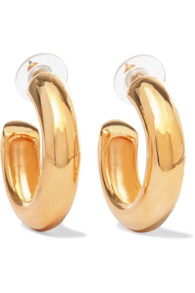 Kenneth Jay Lane Gold Hoop Earrings Gold bR90n