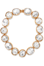 Gold-plated crystal necklace