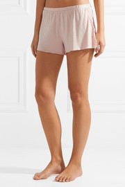 Jessie lace-trimmed jersey pajama shorts