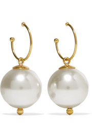 Simone Rocha Gold-plated faux pearl earrings