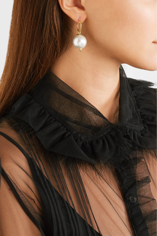 Simone Rocha Gold-plated faux pearl earrings