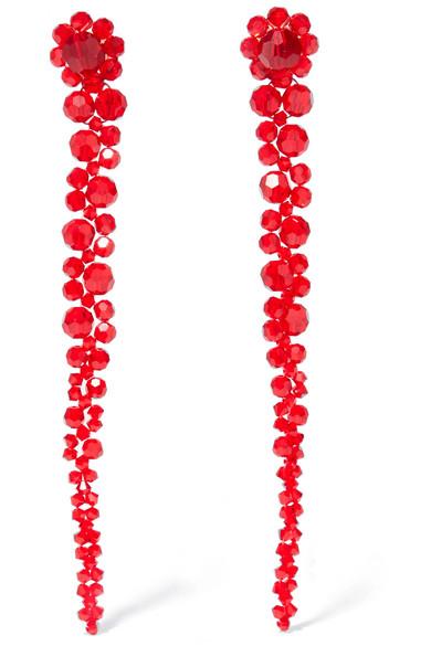Simone Rocha - Crystal Earrings - Red
