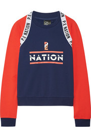 The Wembley printed French cotton-terry sweatshirt