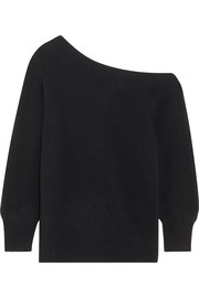 One-shoulder wool sweater