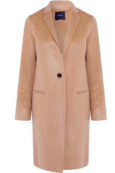 Theory - Essential New Divide Wool Coat - Camel