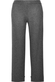 Genie wool-blend flannel straight-leg pants