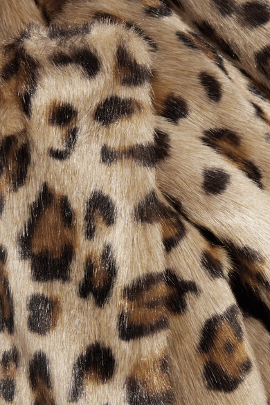Theory Clairene Leopard Print Faux Fur Jacket Multi