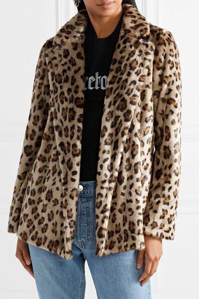 Theory Clairene Leopard Print Faux Fur Jacket Net A
