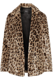 Theory Clairene leopard-print faux fur jacket