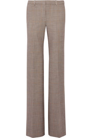 Demitria checked stretch-wool flared pants