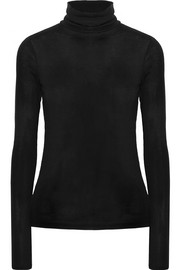 Theory Ribbed modal-blend turtleneck sweater